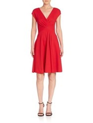 Armani Collezioni Milano Ruched Dress Red