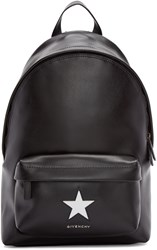 Givenchy Black Leather Small Star Backpack