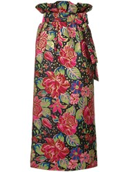 Manish Arora Floral Print Midi Skirt Multicolour