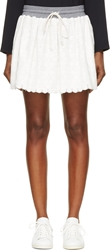 Band Of Outsiders Ivory Lace And Knit Skirt