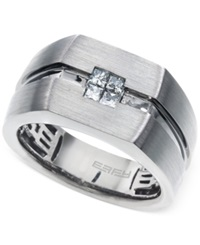 Effy Collection Effy Men's Diamond 1 3 Ct. T.W. Accent Ring In 14K White Gold