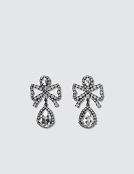 Ashley Williams Bow Earrings Silver