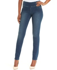 Style And Co. Petite Jeans Curvy Fit Pull On Jeggings Galaxy Wash