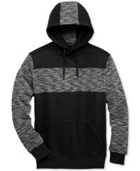 Sean John Men's Loop Cross Hoodie Black Grey Multi