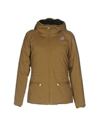 K Way Down Jackets Khaki