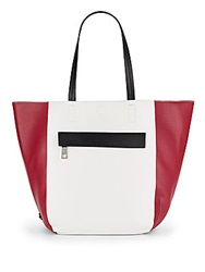Kenneth Cole Reaction Essential Faux Leather Colorblock Tote Berry