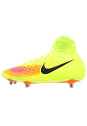Nike Performance Magista Orden Ii Sg Football Boots Volt Black Total Orange Hyper Turquoise Pink Blast Clear Jade Yellow