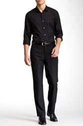 Louis Raphael Solid Worsted Wool Modern Fit Pant Black