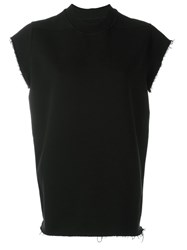 Rick Owens Drkshdw Cut Off Sweatshirt Black