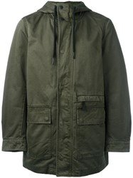 Diesel Hooded Coat Green