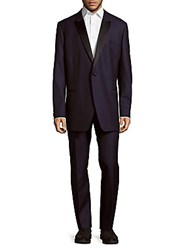 Ike Evening By Ike Behar Relaxed Wool Suit Navy