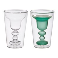 Bitossi Home Double Walled Cocktail Glasses Set Of 2 Margarita