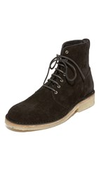 Rag And Bone Military Suede Lace Boots Black