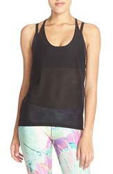 Women's Onzie Mesh T Back Tank Black