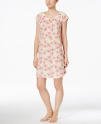 Charter Club Satin Trim Nightgown Only At Macy's Pink Poppy