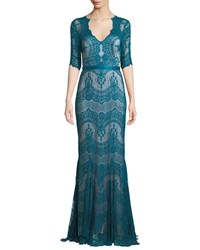 Catherine Deane Kelly Tulle And Lace Illusion Gown W Swiss Dots Blue