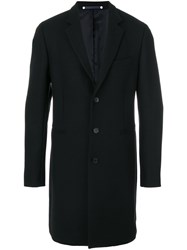Paul Smith Ps By Single Breasted Coat Men Wool Cashmere Nylon Viscose Xxl Black