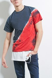 Forever 21 Hype Means Nothing Tie Dye Tee Black Red