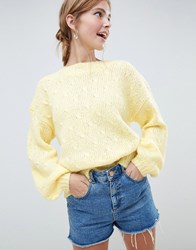 Minimum Moves By Balloon Sleeve Jumper Golden Haze Yellow