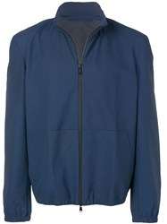 Salvatore Santoro Rain Jacket Blue