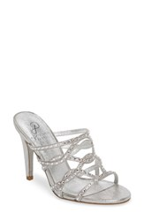 Adrianna Papell 'S Emma Strappy Sandal Silver Fabric