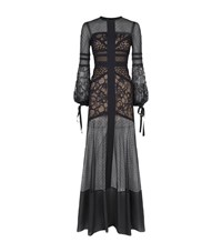 Elie Saab Lace Panel Gown Female Black