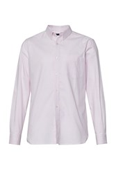 French Connection Men's Connery Oxford Stripe Shirt Pink