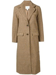 Jovonna Arlette Checked Coat Nude And Neutrals