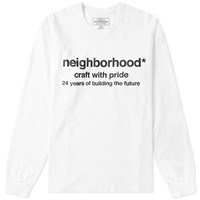 Neighborhood Long Sleeve Future Tee White