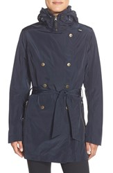 Women's Helly Hansen 'Wesley' Waterproof Trench Coat Navy