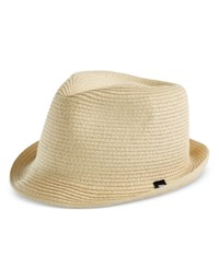 B Block Headwear Men's Braided Paper Straw Fedora Natural