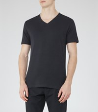 Reiss Dayton V Neck T Shirt In Blue Mens