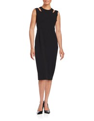 Calvin Klein Cutout Sheath Dress Black