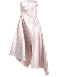 Osman Strapless Glitter Gown Pink And Purple