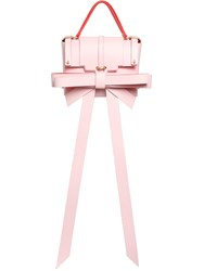 Niels Peeraer Small Big Ribbon Leather Backpack