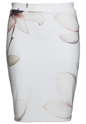 Soaked In Luxury Pencil Skirt Mint Beige Lila