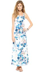 Lovers Friends Golden Light Maxi Dress Blue Floral