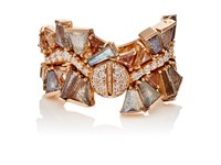 Nak Armstrong Women's Mixed Gemstone Rose Gold Ring No Color