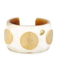 Ashley Pittman Mpenzi Light Horn Coin And Crystal Cuff