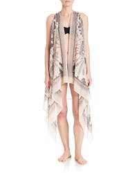 T And C Theodora And Callum Tie Dyed Cover Up Kimono White