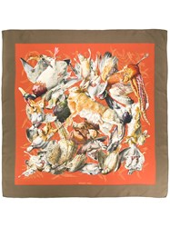 Hermes Vintage Gibiers Scarf Multicolour