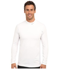 Nike Golf Hyperwarm Mock White Metallic Silver Men's Long Sleeve Pullover