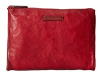 Frye Michelle Tech Clutch Burnt Red Antique Soft Vintage Clutch Handbags Tan