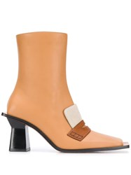 Loewe Square 80Mm Boots Neutrals