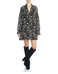 1.State Floral Shift Dress Black