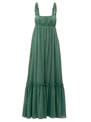 Loup Charmant Sonnet Empire Waist Cotton Maxi Dress Green