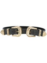 B Low The Belt Double Buckle Black