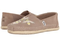 Toms Premium Alpargata Desert Taupe Tribal Embroidered Women's Slip On Shoes
