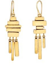 Judy Geib Women's Totem Earrings Colorless