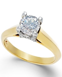 X3 Certified Diamond Solitaire Engagement Ring In Titanium 1 1 4 Ct. T.W. No Color